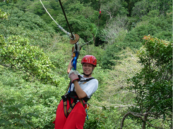 Costa Rica Superman zip line  tour in Finca Daniel adventure park image 4